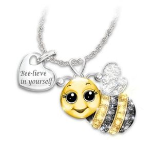 "NWOT  ""bee-leve in yourself"" Necklace"